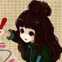 qq卡通女生头像可爱:想你,我无
