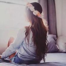 qq头像女生背影长发:爱你是快乐