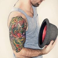 纹身qq头像:我喜欢你的眼