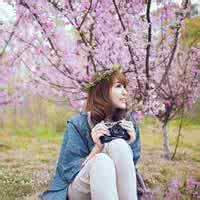 qq头像女生樱花:身在异乡的我