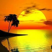 夕阳qq头像:我无法把我的心看穿