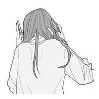 qq头像女生背影素描:这是个地老