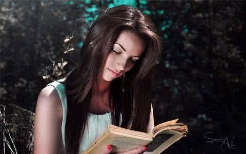 qq头像女生读书唯美图片:如果我