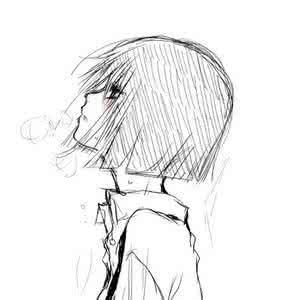 铅笔画qq头像:如果爱有颜色