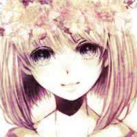 qq头像女生唯美手绘:如果你是花圃中那束花