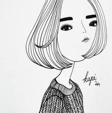 qq头像女生唯美素描:一次相逢